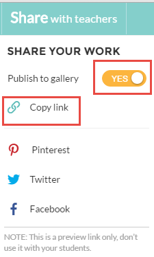 Publish worksheet and share